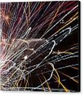 Fireworks Cropped Canvas Print by Carl Clay