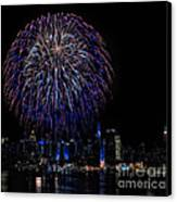 Fireworks In New York City Canvas Print by Susan Candelario