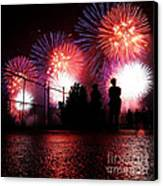 Fireworks Canvas Print by Nishanth Gopinathan