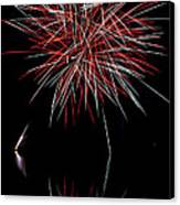 Fireworks Rockets Red Glare Canvas Print by Christina Rollo