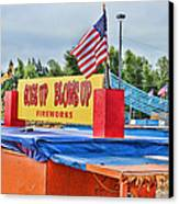 Fireworks Stand Canvas Print by Cathy Anderson