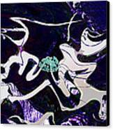 Firmament Cracked #11 Tapestry Of Pain Canvas Print by Mathilde Vhargon