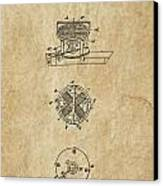 First Electric Motor 3 Patent Art 1837 Canvas Print by Daniel Hagerman