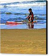 First Wave Canvas Print by Joseph Coulombe
