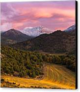 Fish Creek Pass Sunset Canvas Print by Joseph Rossbach