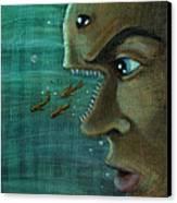 Fish Mind Canvas Print by John Ashton Golden