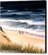Fishermen's Wait Canvas Print by Karol Wyckoff