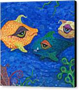 Fishin' For Smiles Canvas Print by Tanielle Childers