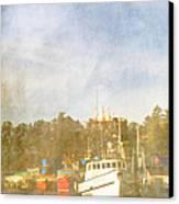Fishing Boats Newport Oregon Canvas Print by Carol Leigh