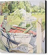 Fishing Canvas Print by Carl Larsson