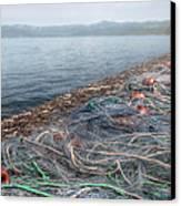 Fishing Nets To Dry Canvas Print by Leonardo Marangi