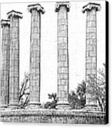 Five Columns Sketchy Canvas Print by Debbie Portwood