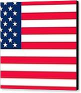 Flag Of The United States Of America Canvas Print by Anonymous
