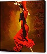 Flamenco Dancer 0013 Canvas Print by Catf