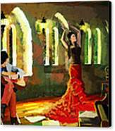 Flamenco Dancer 017 Canvas Print by Catf