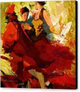 Flamenco Dancer 019 Canvas Print by Catf