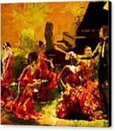 Flamenco Dancer 020 Canvas Print by Catf