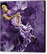 Flamenco Dancer 023 Canvas Print by Catf