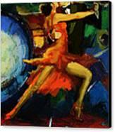 Flamenco Dancer 029 Canvas Print by Catf