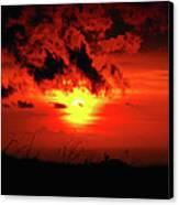 Flaming Sunset Canvas Print by Christi Kraft