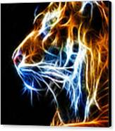Flaming Tiger Canvas Print by Shane Bechler