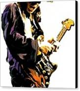 Flash Point     Stevie Ray Vaughan Canvas Print by Iconic Images Art Gallery David Pucciarelli