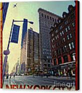 Flat Iron Building Poster Canvas Print by Nishanth Gopinathan