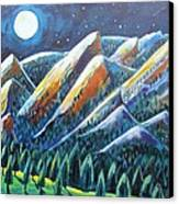 Flatirons In The Moonlight Canvas Print by Harriet Peck Taylor