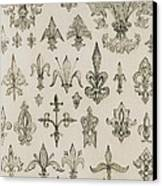 Fleur De Lys Designs From Every Age And From All Around The World Canvas Print by Jean Francois Albanis de Beaumont