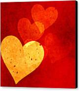 Floating Hearts Canvas Print by Kurt Van Wagner