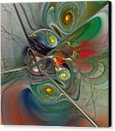 Floating Lightness-abstract Art Canvas Print by Karin Kuhlmann