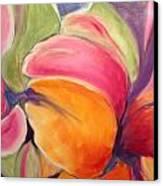 Floating Petals Canvas Print by Karen Carmean