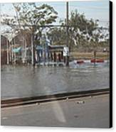 Flooding Of The Streets Of Bangkok Thailand - 01131 Canvas Print by DC Photographer