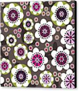 Floral Grunge Canvas Print by Lisa Noneman