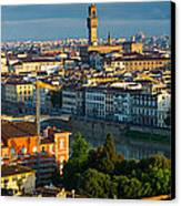 Florence Panorama Canvas Print by Inge Johnsson