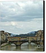 Florence. Ponte Vecchio Canvas Print by Anna and Sergey