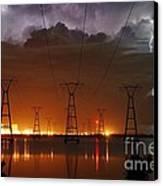 Florida Power And Lightning Canvas Print by Lynda Dawson-Youngclaus
