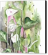 Flower Anthurium 04 Elena Yakubovich Canvas Print by Elena Yakubovich