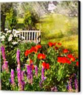 Flower - Poppy - Piece Of Heaven Canvas Print by Mike Savad