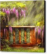 Flower - Wisteria - A Lovers View Canvas Print by Mike Savad