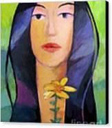 Flower Woman Canvas Print by Lutz Baar