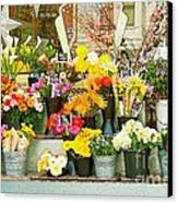 Flowers At The Bi-rite Market In San Francisco  Canvas Print by Artist and Photographer Laura Wrede