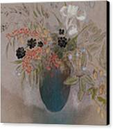 Flowers In A Vase Canvas Print by Odilon Redon