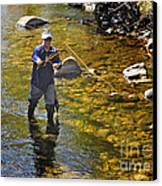 Fly Fishing For Trout Canvas Print by Nava Thompson