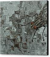 Fly On The Wall Canvas Print by Jack Zulli