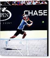 Flying Federer  Canvas Print by Nishanth Gopinathan