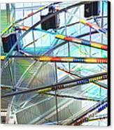 Flying Inside Ferris Wheel Canvas Print by Luther   Fine Art