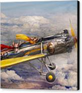 Flying Pig - Plane - The Joy Ride Canvas Print by Mike Savad