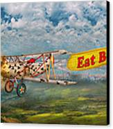 Flying Pigs - Plane - Eat Beef Canvas Print by Mike Savad