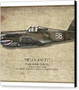 Flying Tiger P-40 Warhawk - Map Background Canvas Print by Craig Tinder